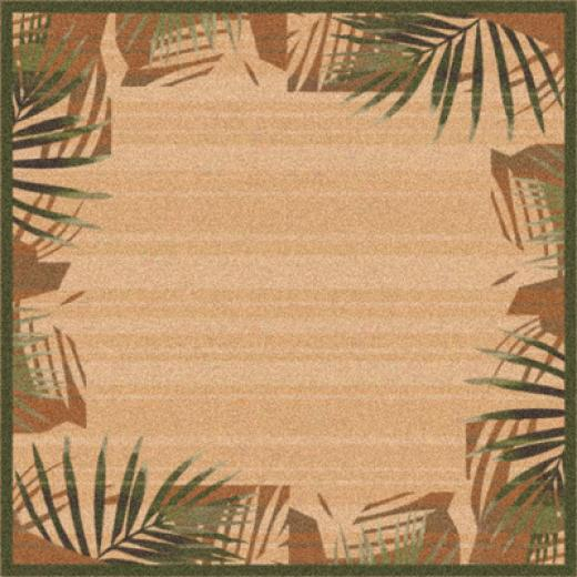 Milliken Palm 8 Square Deep Olive-green Area Rugs