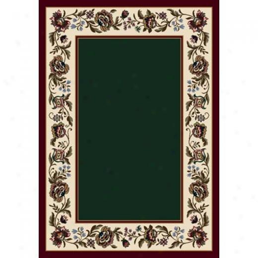 Milliken Penelope 5 X 8 Oval Emerald Area Rugs
