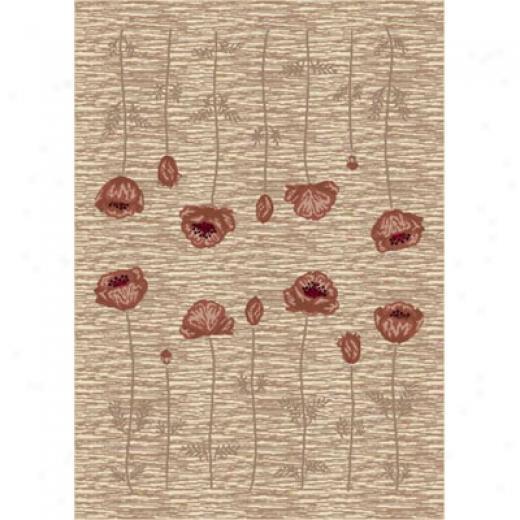 Milliken Poppy 8 X 11 Lijen Area Rugs