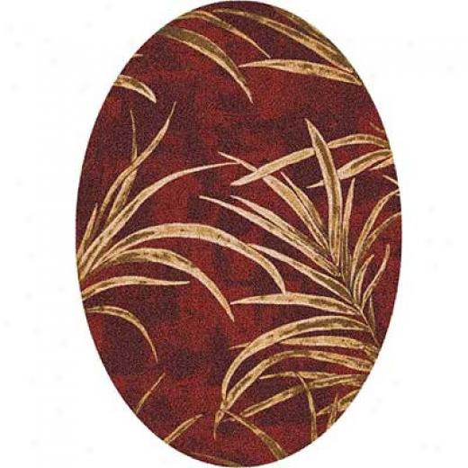Milliken Rainforest 8 X 11 Oval Russet Area Rugs