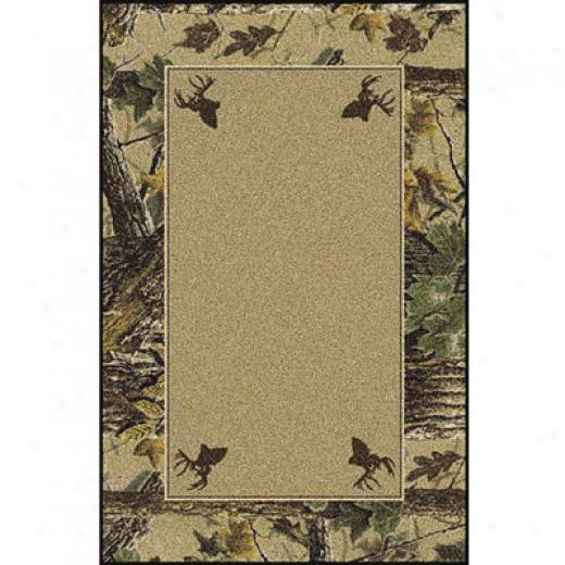 Milliken Realtree Collection 3 X 4 Xtra Brown Solid Center Area Rugs