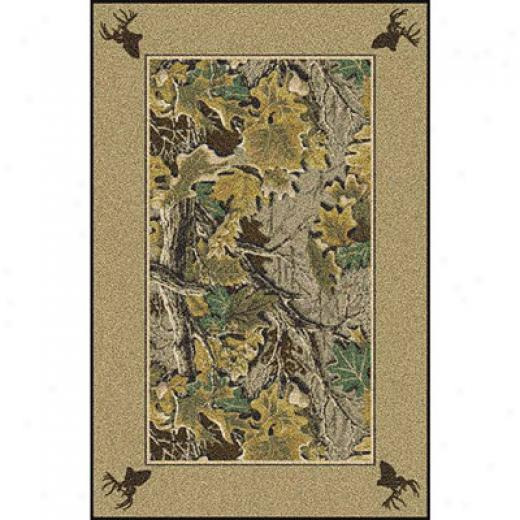 Milliken Realtree Coilection 3 X 4 Advantage Solid Border Area Rugs