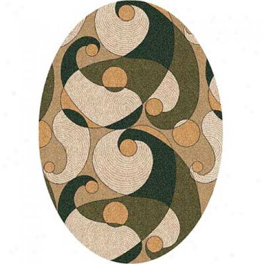 Milliken Remous 8 X 11 Oval Brown Area Rugs