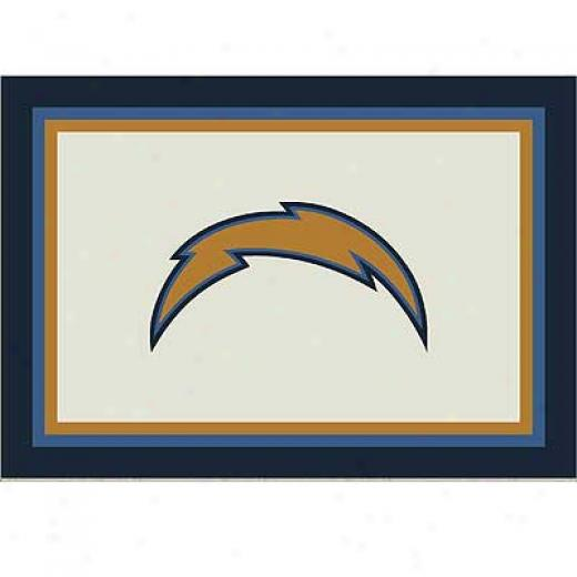 Milliken San Diego Chargrrs 11 X 13 San Diego Chargers Spirit Area Ruge