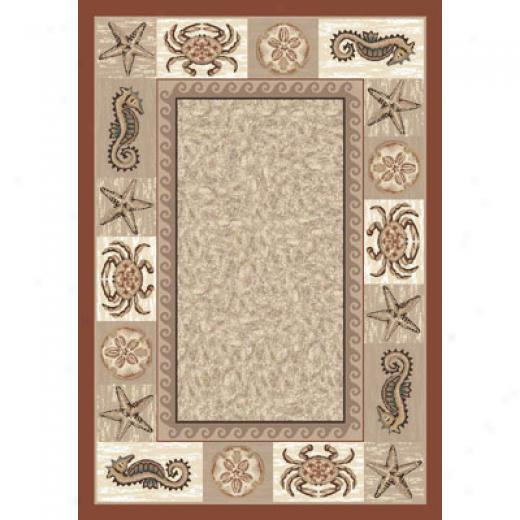 Milliken Sea Life 11 X 13 Coral Area Rugs