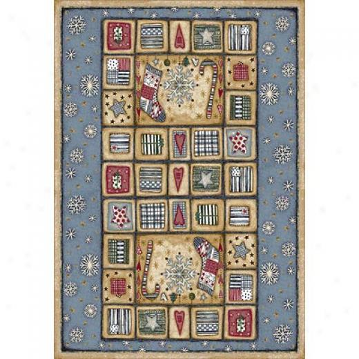 Milliken Seasonal - Winter 3 X 4 Holiday Rugs - Patch Of Snow Area Rugs