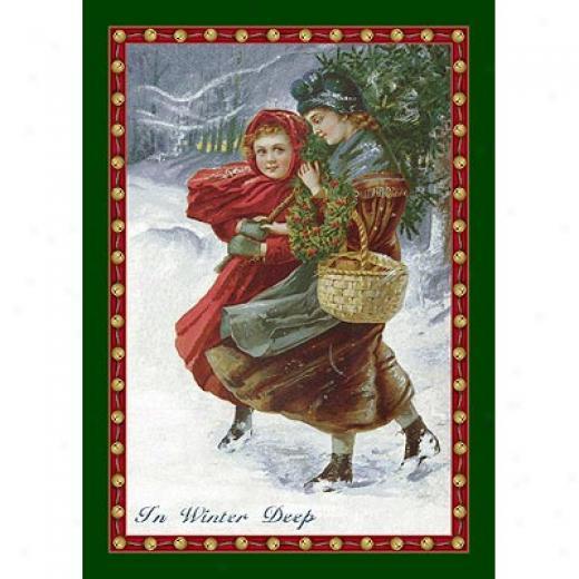 Milliken Seasonal - Winter 3 X 4 In Winter Deep - Emerald Area Rugs