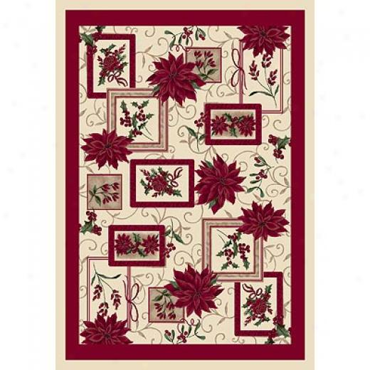 Milliken Seasonal - Winter 4 X 5 Winter Bouquet Area Rugs