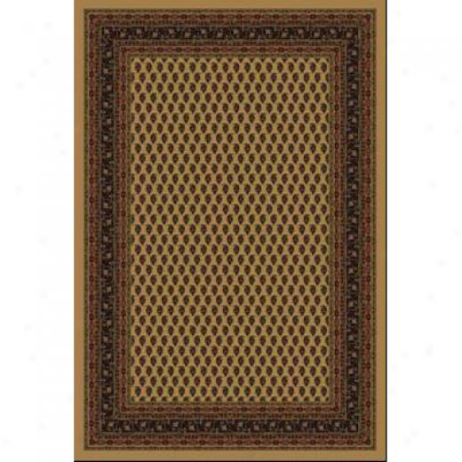 Milliken Serabend 5 X 8 Oval Maize Area Rugs