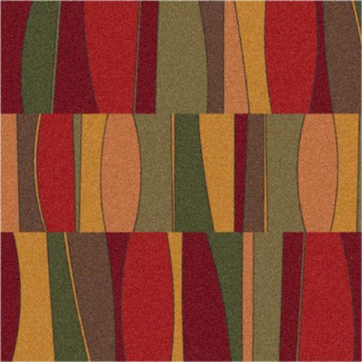 Milliken Sinclair 8 X 11 Tapestry Red Arez Rugs