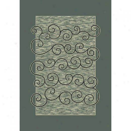 Milliken Spirale 2 X 8 Runner Aqua Ahtique Area Rugs