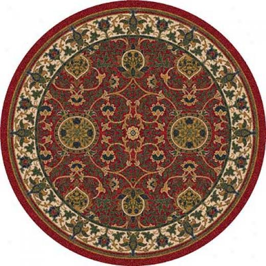 Milliken Sumero 8 Rundle Indian Red Area Rugs