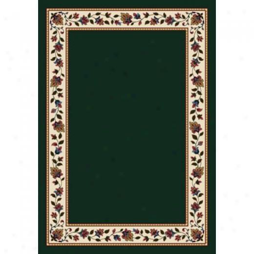 Milliken Symphony Solid 8 X 11 Emerald Area Rugs