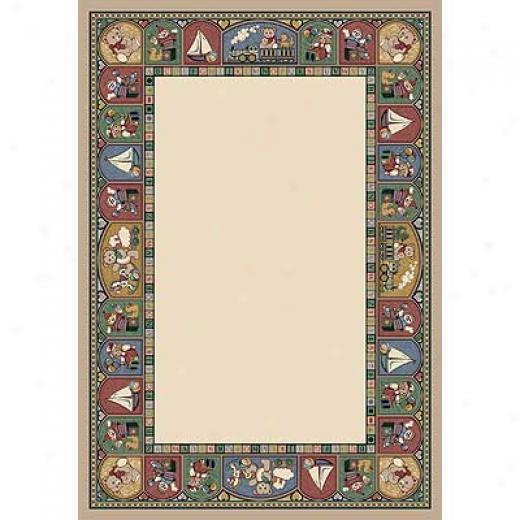 Milliken Toy Parade 4 X 5 Pearl Mist Area Rugs
