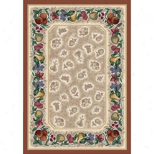 Milliken Tuscany Vine 5 X 8 Oval Terra Cotta Antique Area Rugs