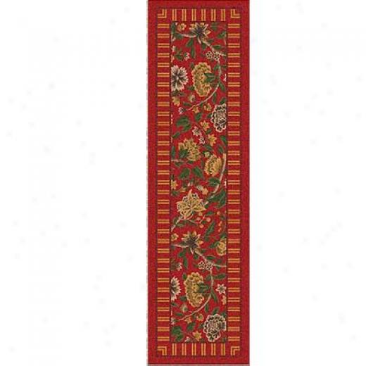 Milliken Vacheil 2 X 8 Runner Indian Red Area Rugs
