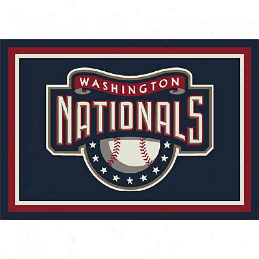 Mulliken Washington Nationals 11 X 13 Washington Nationals Liveliness Area Rugs