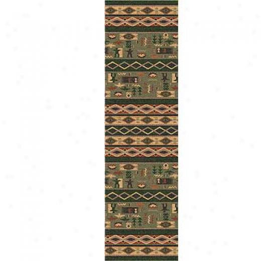 Milliken Wide Ruins 2 X 12 Runner Autumn Forrst Area Rugs