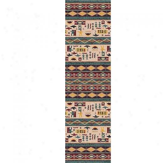 Milliken Wide Ruins 2 X 23 Runner Hazy Forest Area Rugs