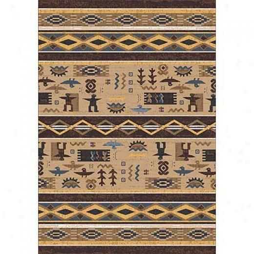 Milliken Wide Ruins 4 X 5 Velvet Brown Area Rugs