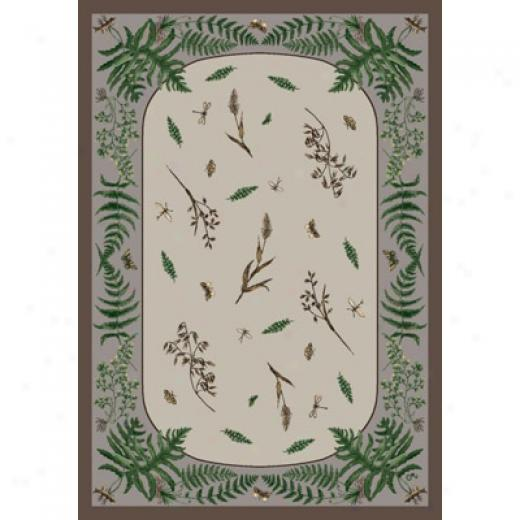 Milliken Woodland Fern 7484/298 8 Octagon Rabbit Area Rugs