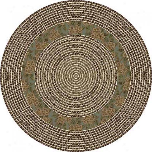 Milliken Woodstock Braid 4 X 5 Oval Sage Area Rugs
