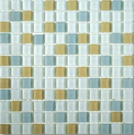Mirage Tile Glass Mosaic Blends 1 X 1 Moonstone Tile & Stone