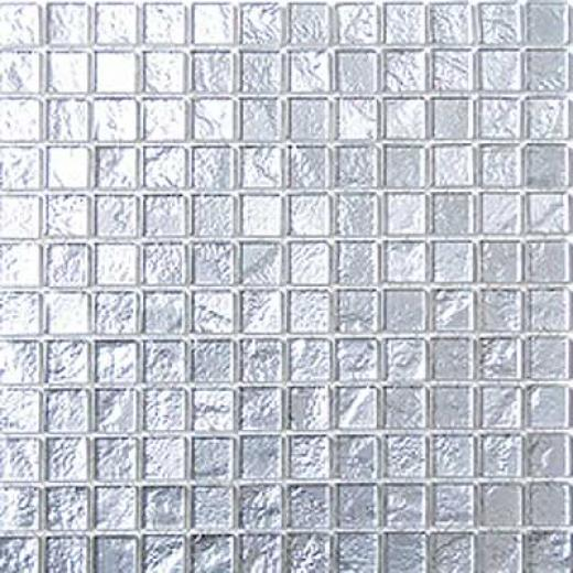 Mirage Tile Laser Glass Plain Mosaic 12 X 12 Platinum Tile & Stone