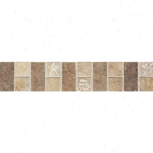 Mohawk Artistic Collection - Accent Statements - Ceramic Beige Noce Monticino Decorative Border Tile & Stone