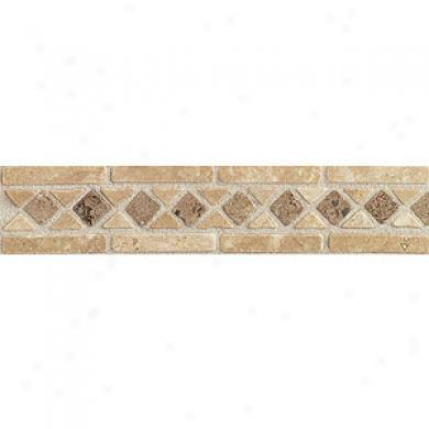 Mohawk Artistic Collection - Accent Statements - Stone Sienna/ivory/antalya Diamond Decorative Border Tile & Rock