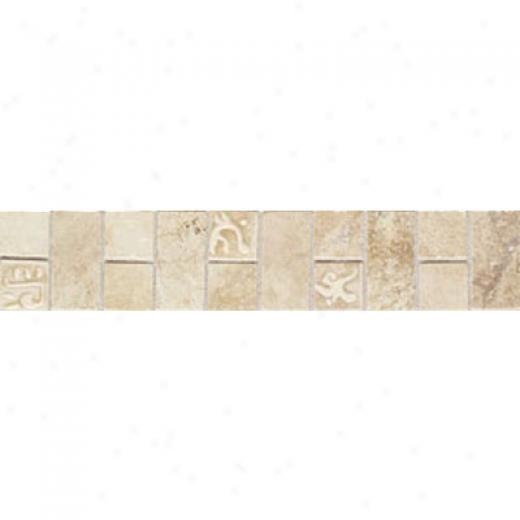 Mohawk Artistic Collection - Accent Statements - Ceramic Avorio Grigio Monticino Decorative Border Tile & Stone