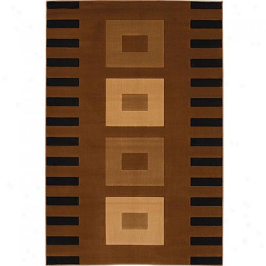 Mohawk Five Star 2 X 8 Quadrant Acajou Area Rugs