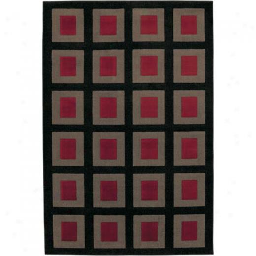 Mohawk Metropolis 8 X 11 Visions (grey Red) Area Rugs