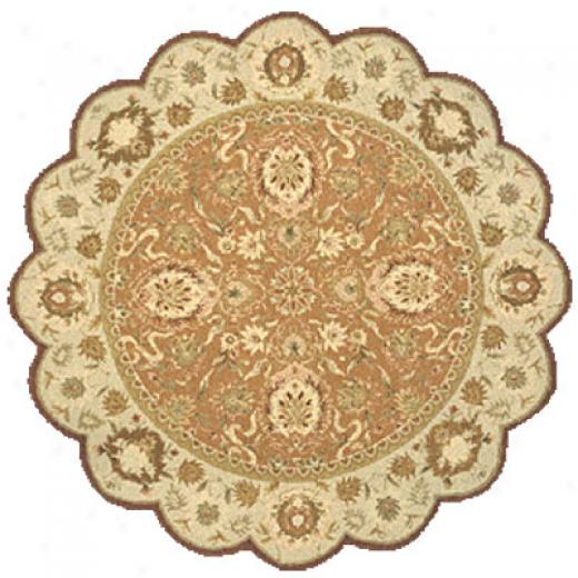 Momeni, Inc. Antique Empirr 8 X 8 Scallop Paprika Area Rugs