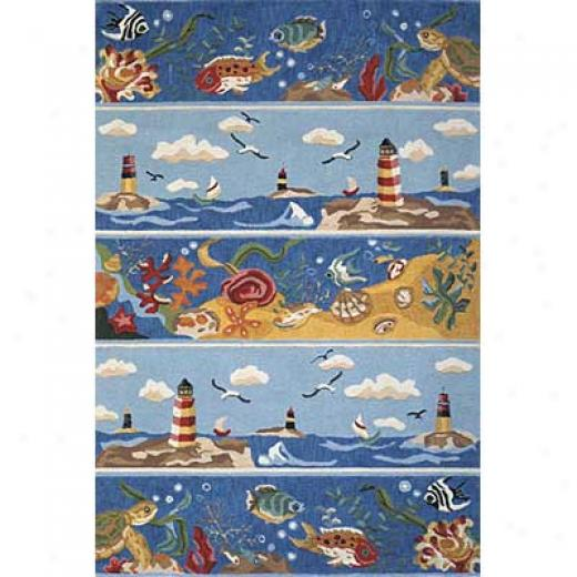 Momeni, Inc. Coastal 3 X 5 Coastal Blue Area Rugs