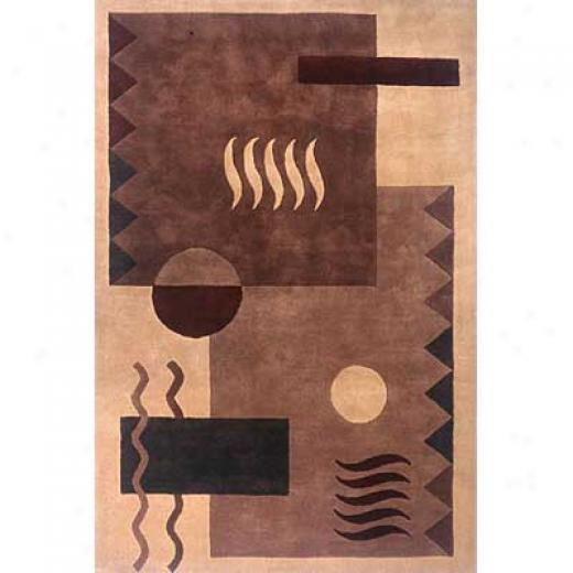 Momeni, Inc. Lama 8 X 11 Brown Superficial contents Rugs
