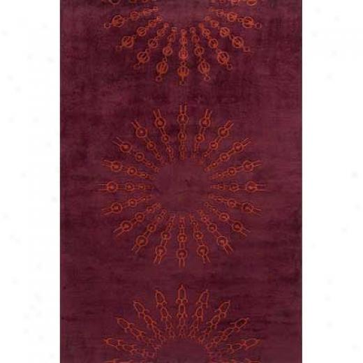 Momeni, Inc. New Wave 5 X 8 New Wave Burgundy Area Rugs