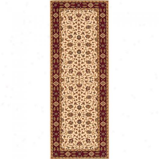 oMmeni, Inc. Persian Garden 2 X 8 Runner Ivory Area Rugs