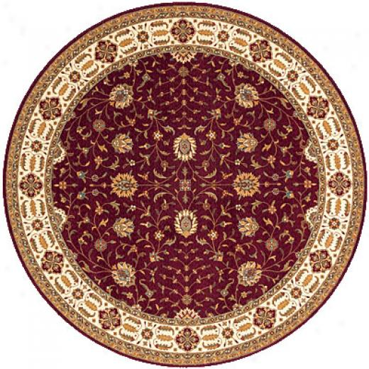 Momeni, Inc. Persian Garden 5 Round Burgundy Area Rugs