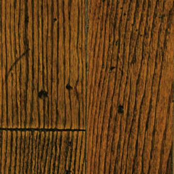 Mullican Frontier Plank Hand Distressed Surface Maple Tuscan Brown Hardwood Flooring