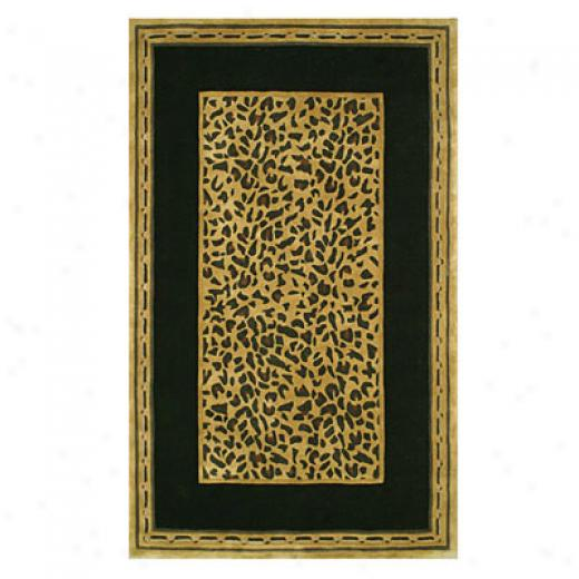 Nejad Rugs African Safa5i 4 X 6 Cheetah Gold/black Area Rugs
