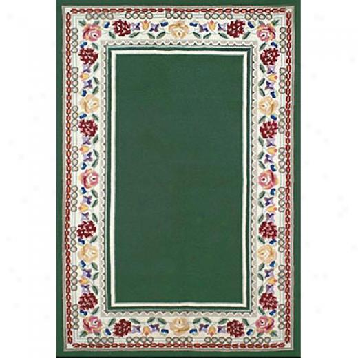 Nejad Rugs Bucks County - Border Rug 6 X 9 Emerald Green/ivory Area Rugs