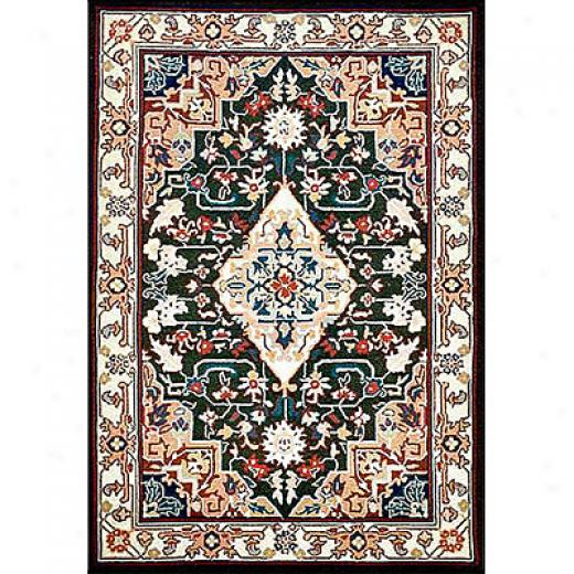 Nejad Rugs Bucks County - Heriz 9 X 12 Emerald Green/ivory Area Rugs