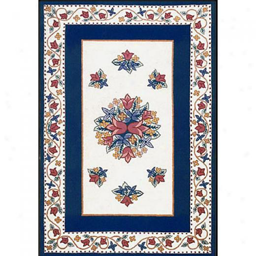 Nejad Rugs Bucks County - Tulip 6 X 9 Ivory/navy Area Rugs