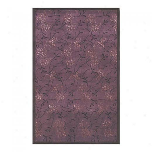 Nejad Rugs Floral Damask 4 X 6 Purple/purple Area Rugs