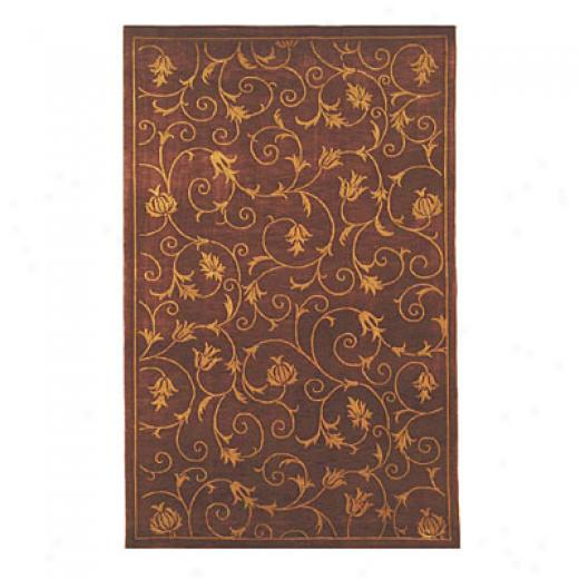 Nejad Rugs French Scrolls 4 X 6 Wine/wine Area Rugs