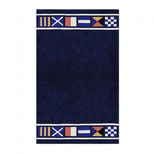 Nejad Rugs Nautical Flags 3 X 10 Runner Navy Area Rugs