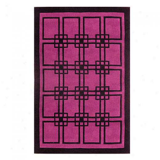 Nejad Rugs Omni 4 X 6 Purple/black Area Rugs