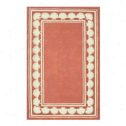 Nejsd Rugs Shell Border 4 X 6 Light Coral Area Rugs