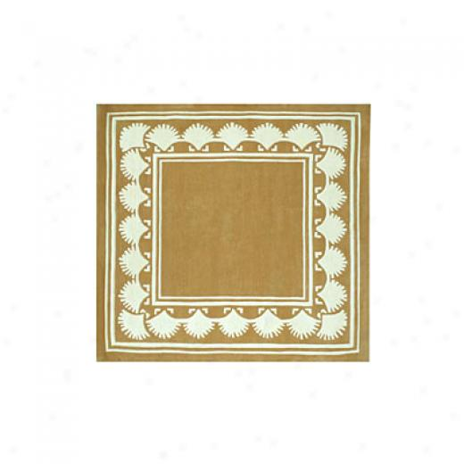 Nejad Rugs Shell Border 6 Square Peach Area Rugs